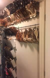 ikea shoe rack hack organized shoe storage without using an inch of precious