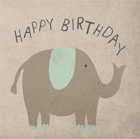 Elephant Birthday Cards Elephant Happy Birthday Card By Lil3birdy