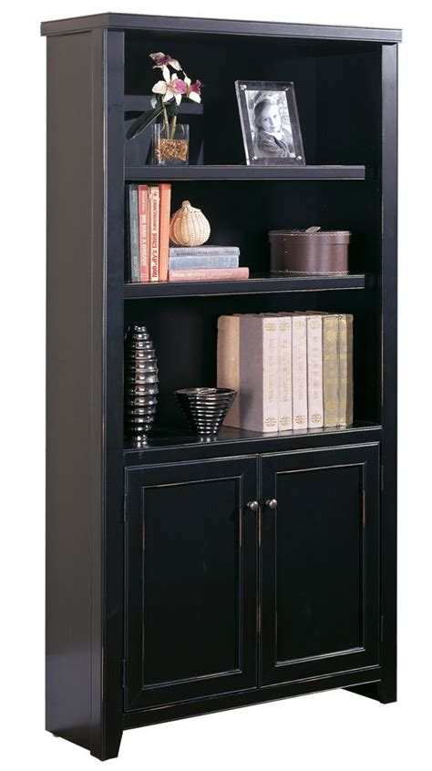 entryway bookcase black wood veneer bookcases 48 quot h bookcase