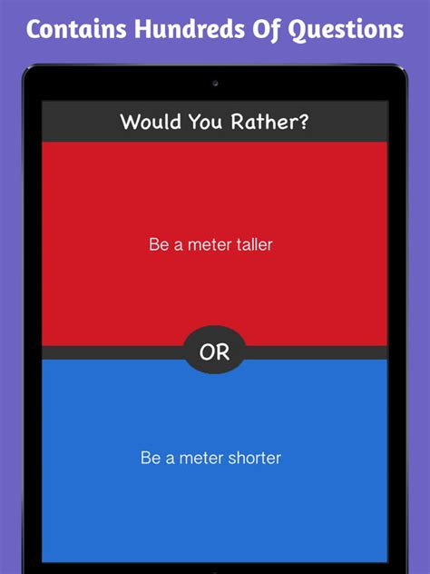 Which Would You Chosen by What Would You Choose Rather On The App Store