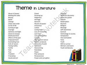 themes in picture books theme list literature from wingedone on teachersnotebook
