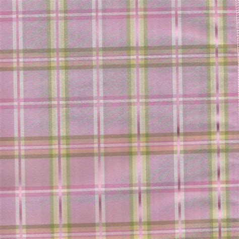 plaid drapes window treatments strafford in begonia pink plaid green yellow and cream