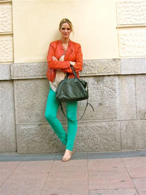 comptoir des comptonniers la hora de teresa baca orange leather jacket