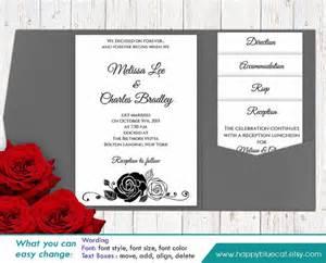wedding invitations on microsoft word diy printable pocket wedding invitation template set