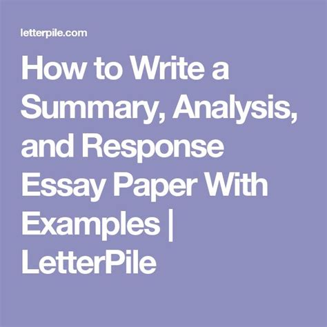 how to write a summary response paper 37 best stats images on statistics studying