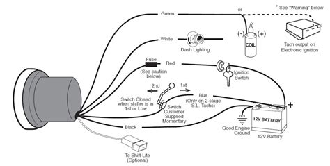 12v wiring diagram for tach how to install an auto meter sport comp 5in tachometer w shift light on your 1979 2012 mustang