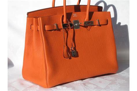 Hermes Need I Say More by Pearls Orange Herm 233 S Birkin Bag