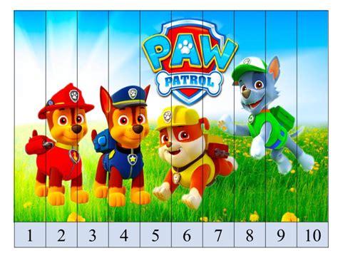 Gamis Canina para imprimir puzzles de patrulla canina