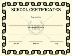 Quality school certificate pdf download 123certifiate templates