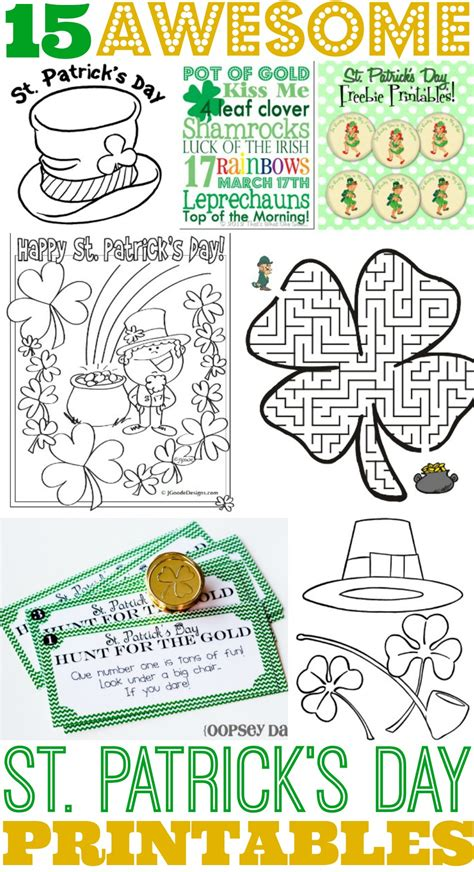 printable coloring pages st s day 15 awesome st s day free printables for