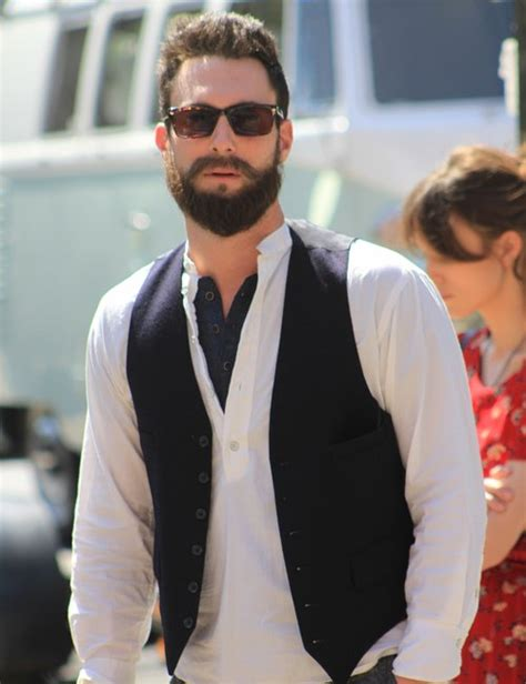 Maroon 5 Misery White T Shirt maroon 5 s adam levine sports bushy beard on set of new