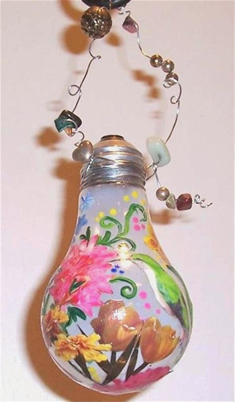 light bulb crafts for painted light bulb design craft gift ideas