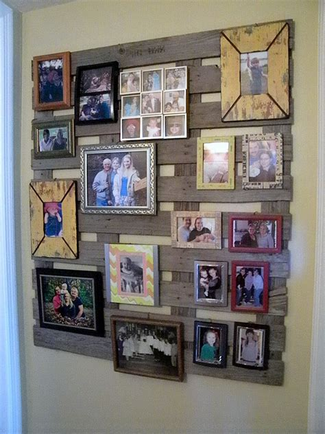 photo wall themes wood pallet wall for hotter home interior decor