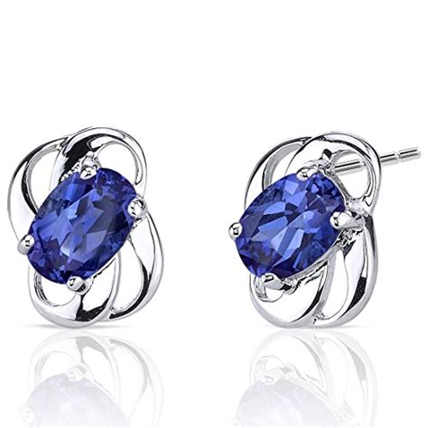 Yellow Sapphire Ceylon Set In Silver 925 Created Sapphire Earrings Sterling Silver 2 00 Carats