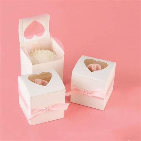 Cupcake Party Favor Box with Peek a Boo Window ? Candy