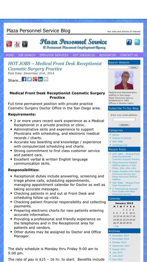 Front Desk Hiring by Hiring A Front Desk Receptionist For A Cosmetic