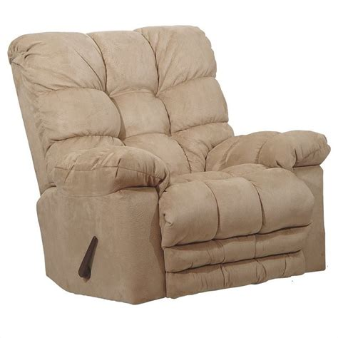 magnum chaise oversized rocker recliner chair in hazelnut