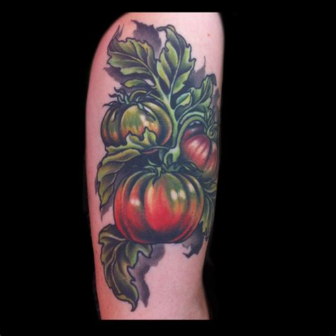 tomato tattoo 7 satiable veggie tattoos