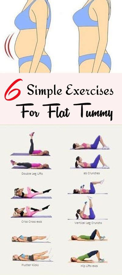 6 simple exercises for flat tummy in 3 weeks lifestyle workouts flat tummy workout