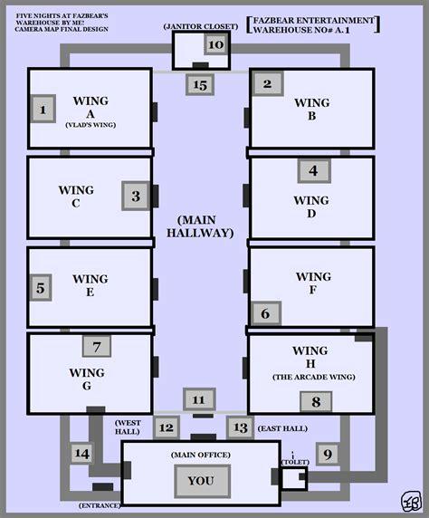 warehouse layout map 5 nights at fazbear s warehouse