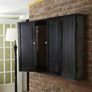 Flat Screen Tv Cabinets With Doors Wall Mount Wall Hung Tv Cabinet 37 Easy Ways To Add Storage To Every Room This House