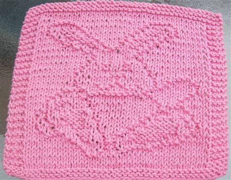knit dishcloth patterns free digknitty designs waving bunny knit dishcloth pattern
