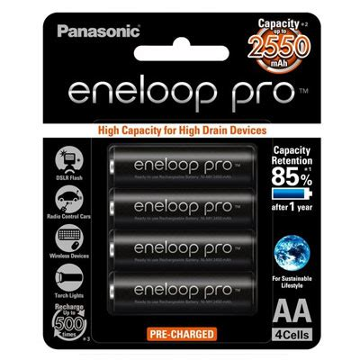 authentic panasonic eneloop batteries 4pc aa black pro apex digital