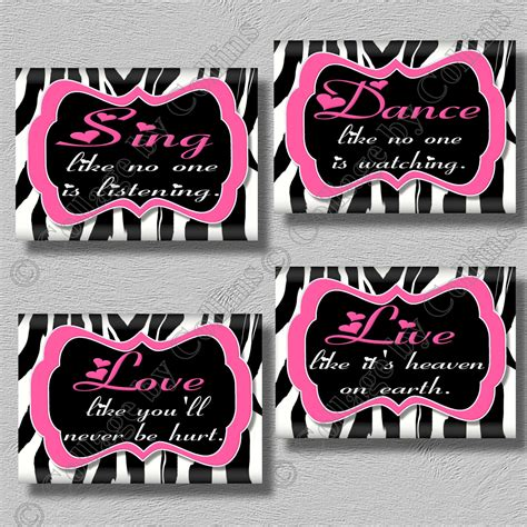 Zebra Print Room Decor Pink Zebra Print Room Wall Decor Sing Live