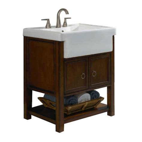 bathroom farm sink vanity allen roth mitchell bath vanity with farmhouse sink