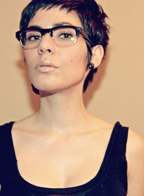 pixie cut curly hair glasses pixie cut with vintage glasses hair stuff pinterest