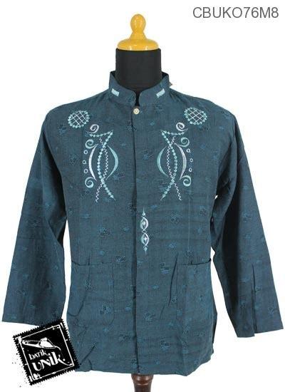 Koko Muslim Motif Batik Kebumen baju muslim koko motif bingkai nada koko batik murah