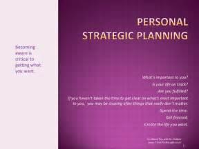 personal strategic plan template personal strategic planning