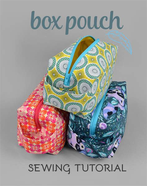 zippered fabric pouch pattern sewing tutorial zippered box pouch by sewdesune on
