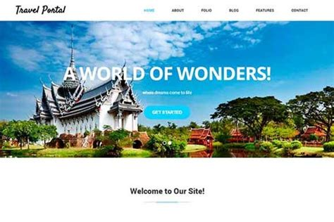 travel portal templates travel portal html5 css3 template bootstrap themes on