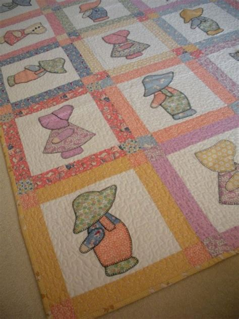 Overal Jp By Dady And sunbonnet sue quilt quilt キルト キルト アップリケ スー