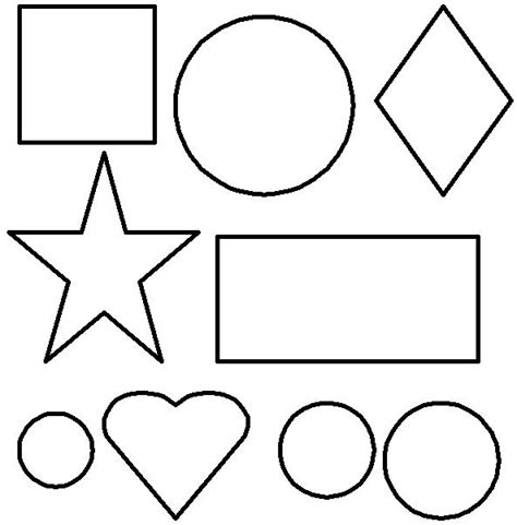 coloring pages with shapes for preschool free coloring pages of heart shape worksheets