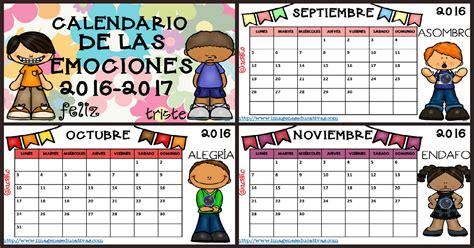 Calendario Por Meses 2017 Para Imprimir Gratis Calendario 2017 Para Trabajar Las Emociones Por Meses