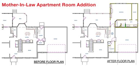 in law apartment addition plans mother law apartment floorplan house plans 81828