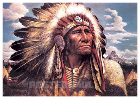 Poster Jumbo Size 50 X 70 Cm jual poster kepala suku indian jumbo size 50 x 70 cm