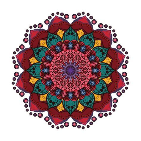colorful mandala colorful mandala vector free