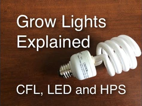 Grow Lights Explained Cfl Led And Hps Easy And Cheap To Led Light Bulbs Explained
