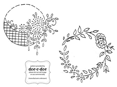 vintage embroidery pattern free doe c doe thursday embroidery