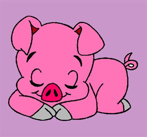 imagenes de otoño en dibujo dibujo de cerdito pintado por cerdo en dibujos net el d 237 a