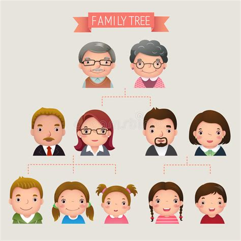 Family Tree Stock Vector Illustration Of Child Diagram 57810800 Family Tree Stock Vector Illustration