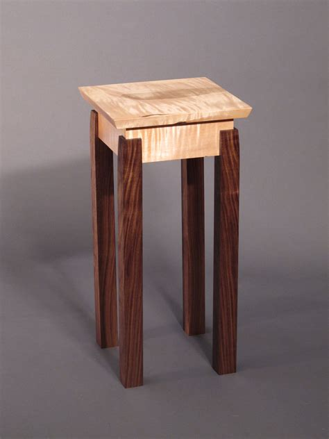 Handmade Side Table - accent table small end table handmade custom wood furniture