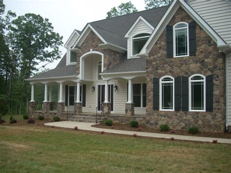 house front design with stone stone front homes home design