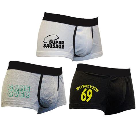 mens novelty gifts mens 3 pack boxer shorts sausage