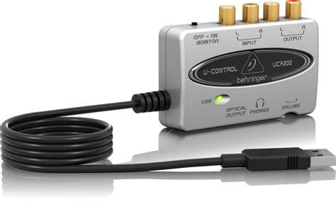Sound Card Recording Behringer Uca222 Usb uca202 audio interfaces computer audio behringer