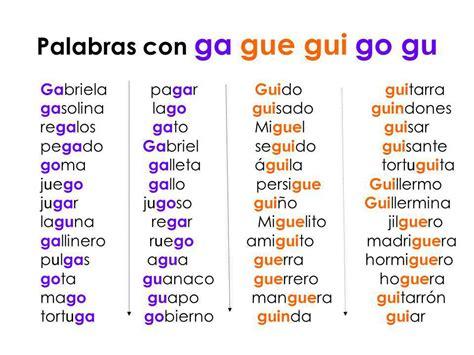 imagenes y palabras con gue y gui blog de 3 186 de primaria palabras con ga gue gui go gu