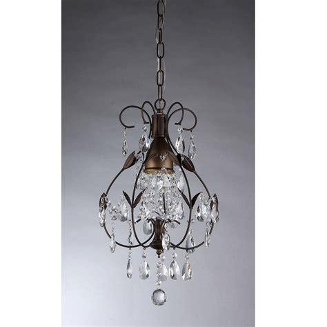 Warehouse Of Tiffany Maleficent 1 Light Antique Bronze One Light Chandelier